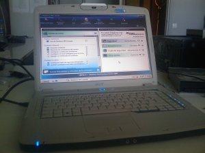 Acer de Sergi con el Windows server 2008 SBS corriendo....