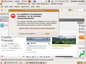 Error en Ubuntu