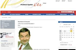 Web de la pagina de la Presidencia Española de la UE